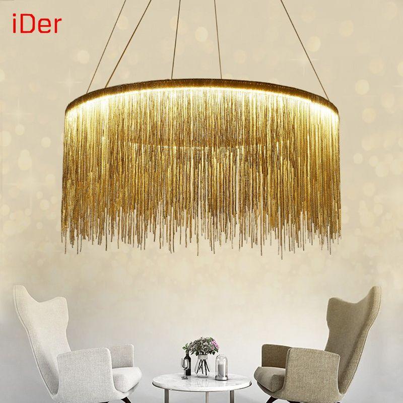 Moderno semplice atmosfera catena lampadario nordic camera da letto soggiorno luci ristorante high end villa contemporary