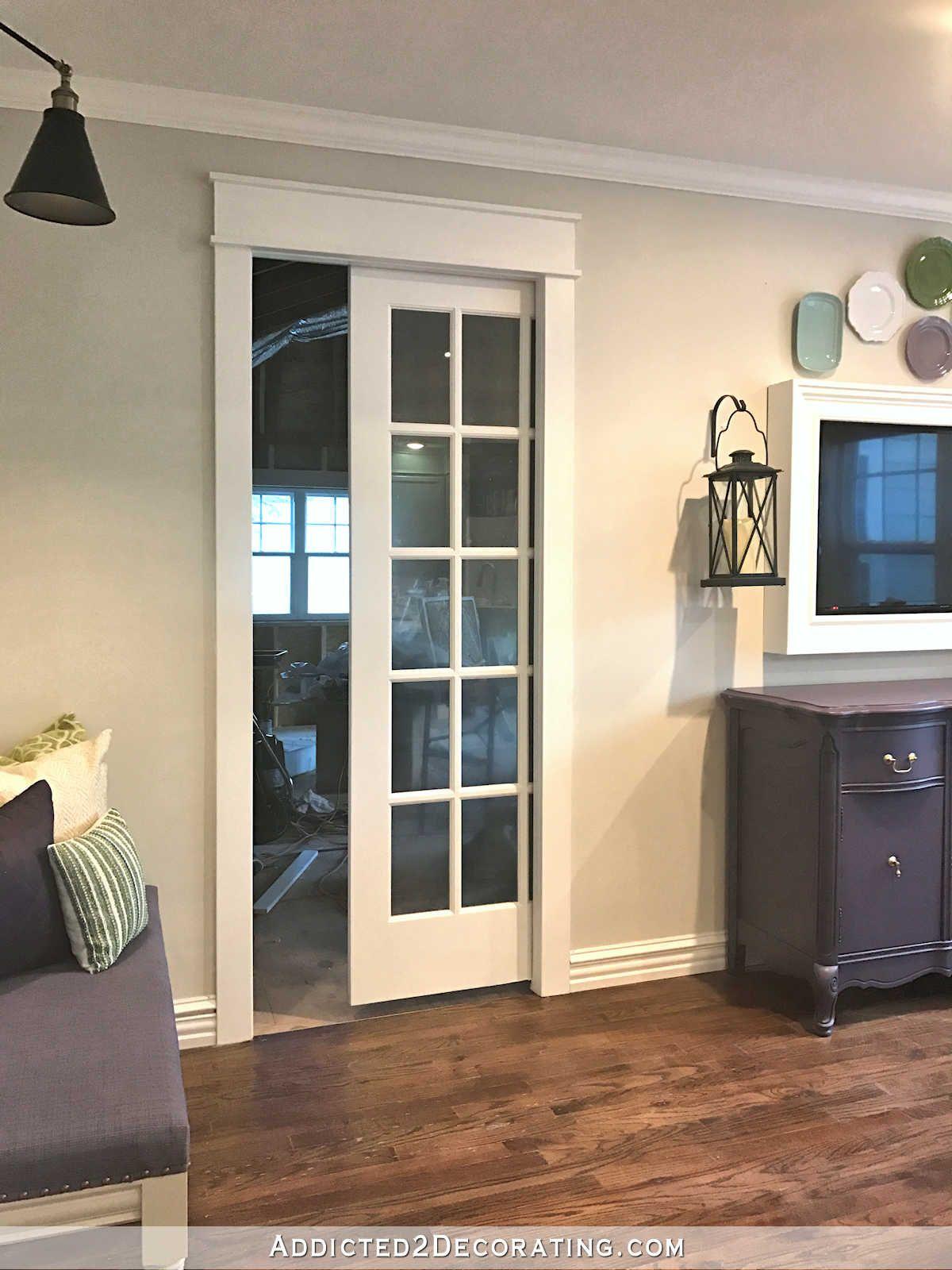 New Breakfast Room Pocket Door - Painted, Trimmed ...