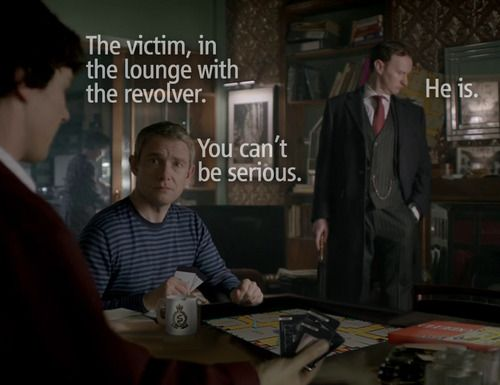 Mycroft have played board games with Sherlock before  The victim is