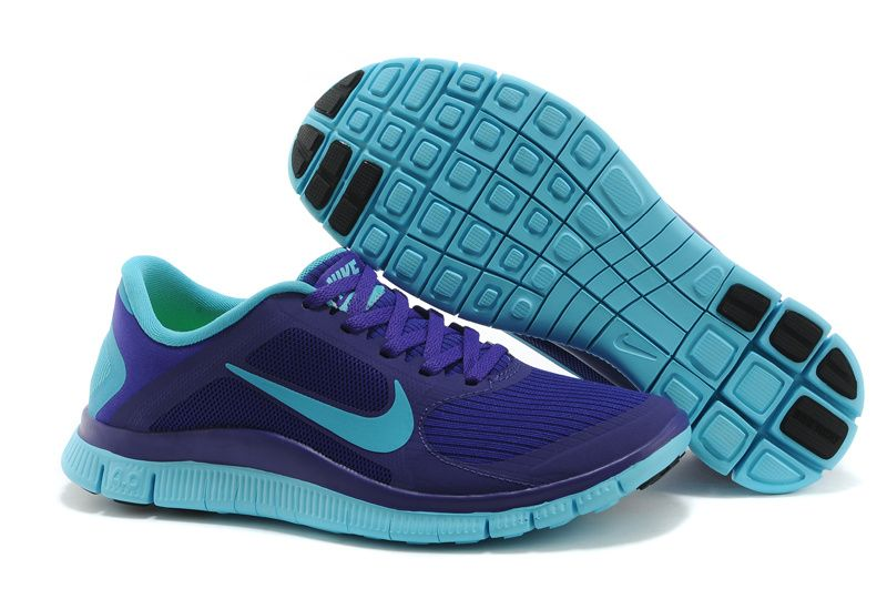 cheap for discount d5351 382b1 ... Nike Free 4.0 V3 Electro Purple Gamma Blue Women s Shoes ...