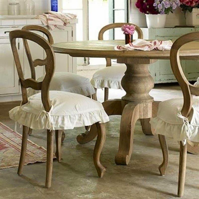 cuscini per sedia e vestisedie : Cuscini Per Sedie In Stile Provenzale Restaurar Sillas De Comedor Comedor Shabby Chic Como Decorar Un Comedor