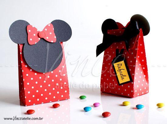 75ff14a67 Bolsitas para sorpresas mickey Hacer Bolsas De Papel, Bolsas De Regalo,  Cupcakes De Minnie