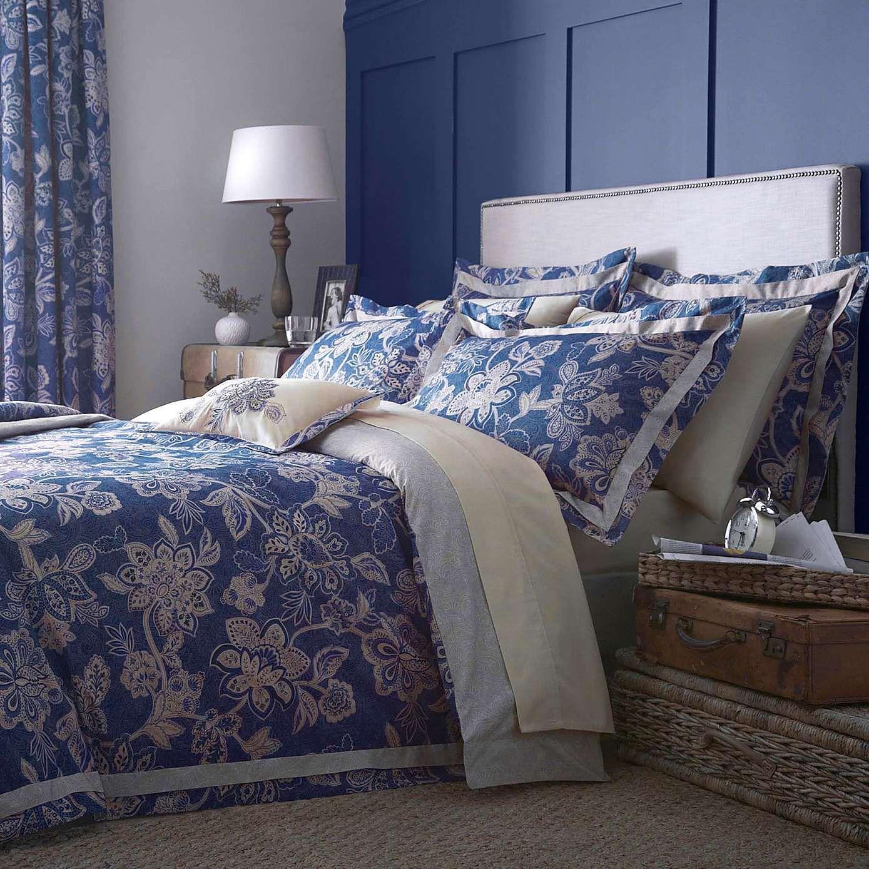 Nautical Bedding Dunelm: Dorma Samira Blue 100% Cotton Duvet Cover