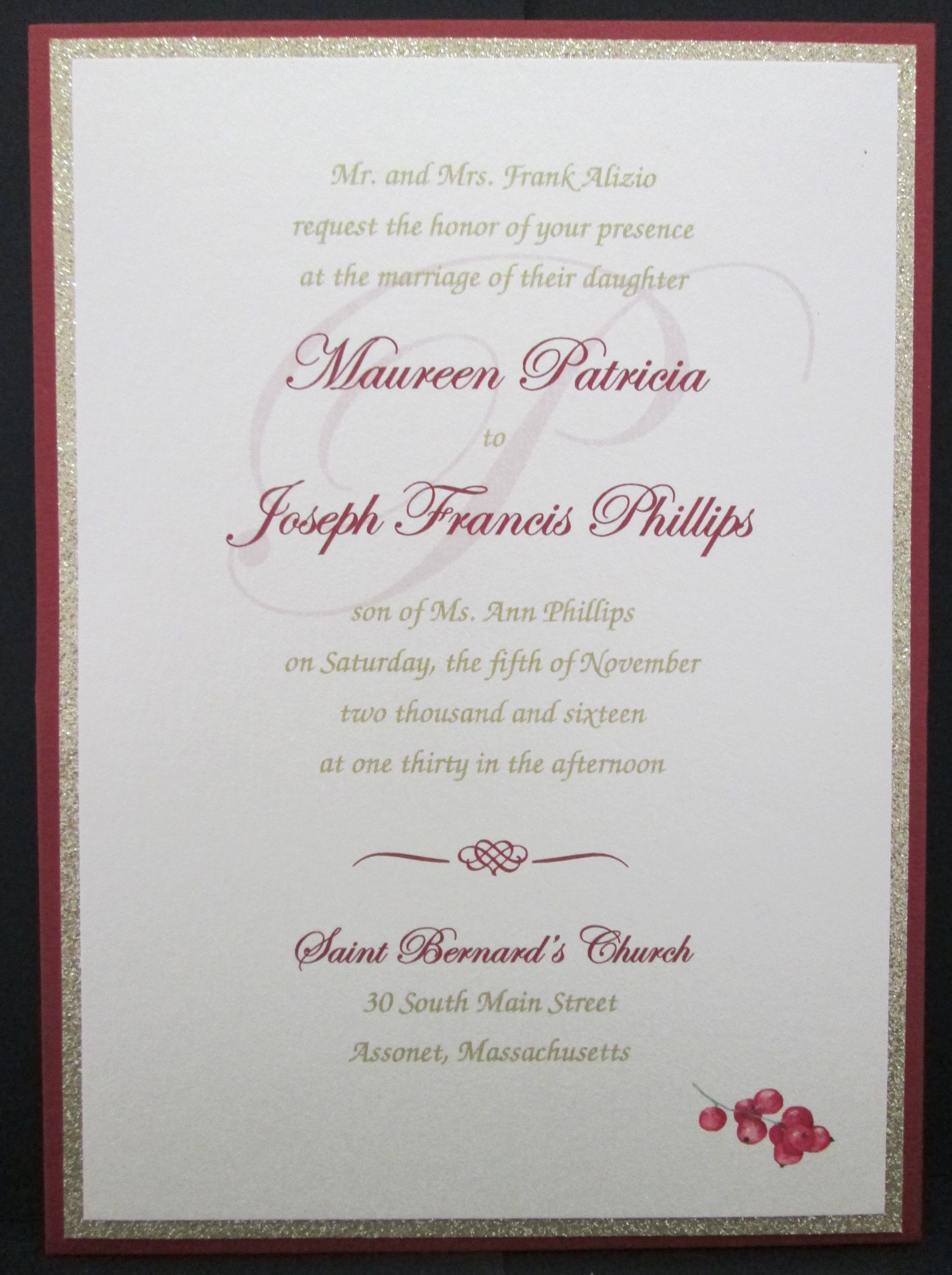 Wedding Invitations With Watermark Wedding Invitations Pinterest