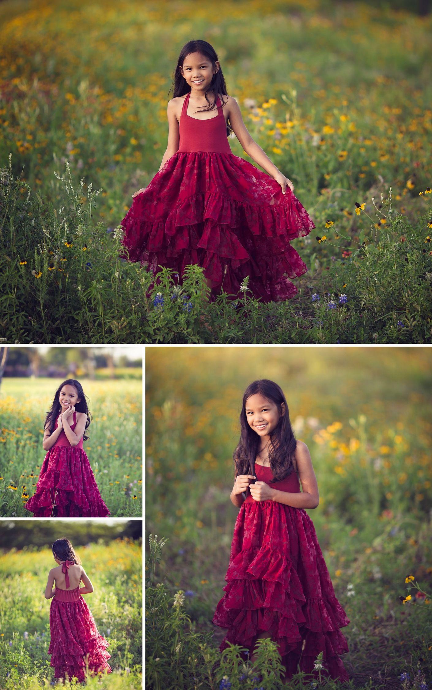 Arabella dress in ruby red pinterest flower girl dresses girls