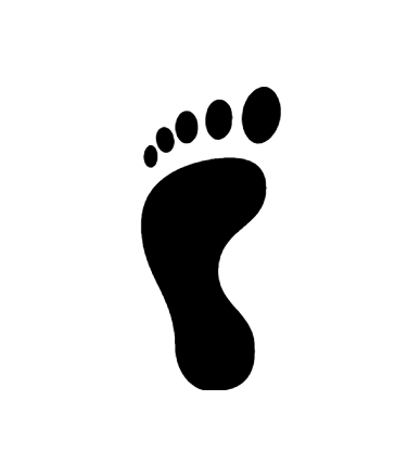 Footsteps Icon In Android Style Android Fashion Icon Android Icons