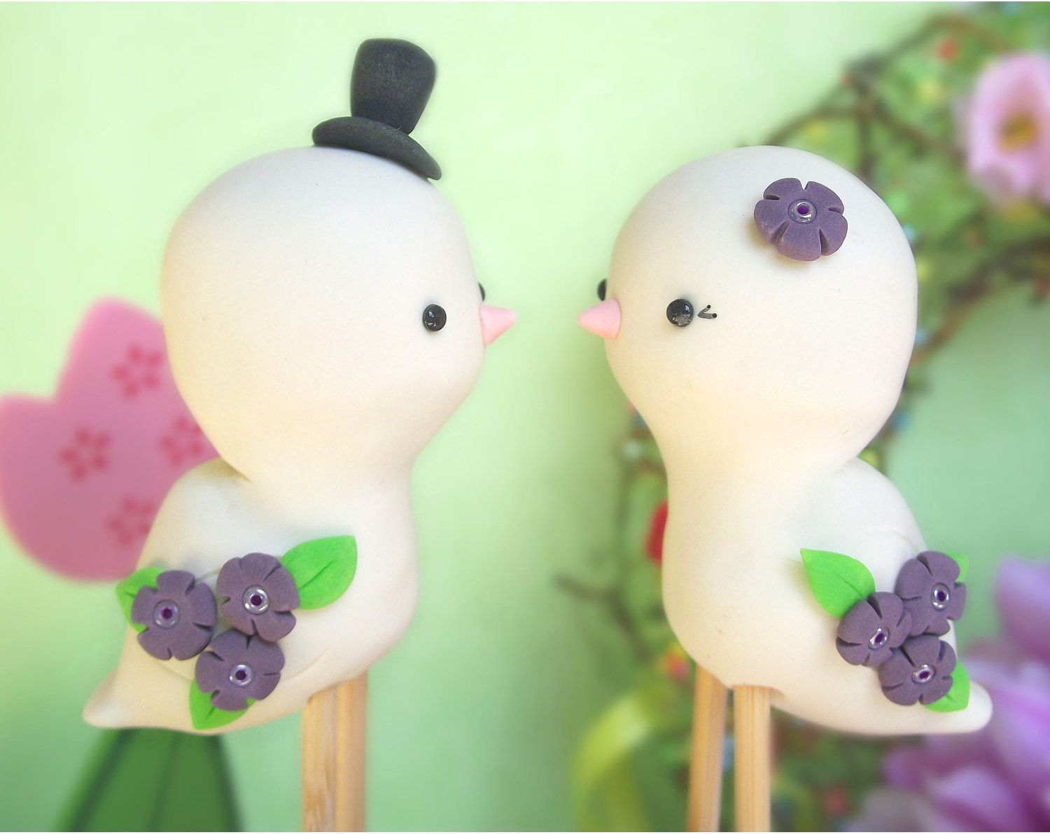 Love Bird Figurines Cute Love Birds Wedding Cake Toppers Personalized Promo