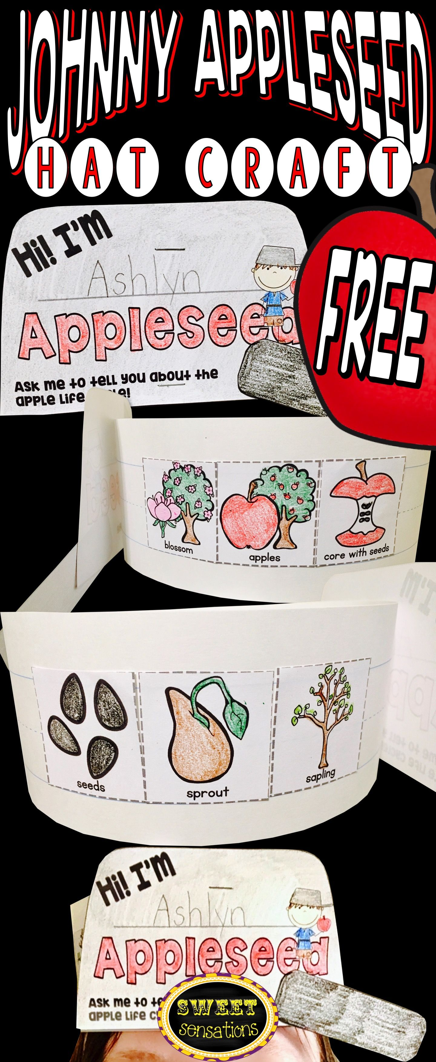 Johnny Appleseed Hat Craft Activity Free Craft Ideas Apple
