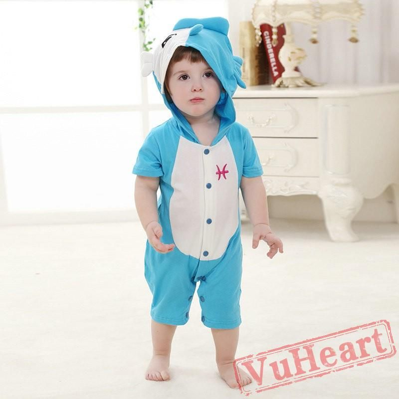 3d1717964 Pisces Zodiac Kigurumi Onesies Pajamas Costumes Toddler Pajamas for Baby