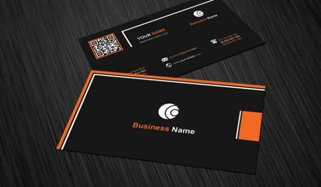 business card template with black background business cards