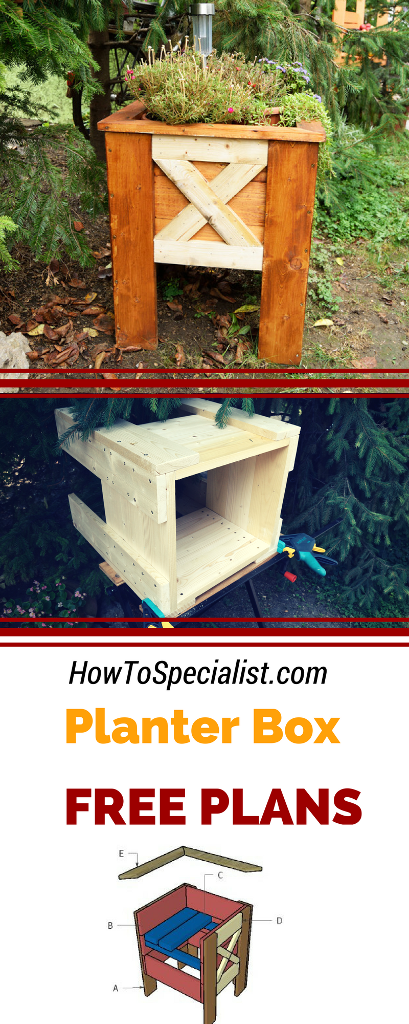 hight resolution of easy to follow free plans for you to learn how to build an outdoor wood planter box build this decorative planter box under 40 using my step by step plans