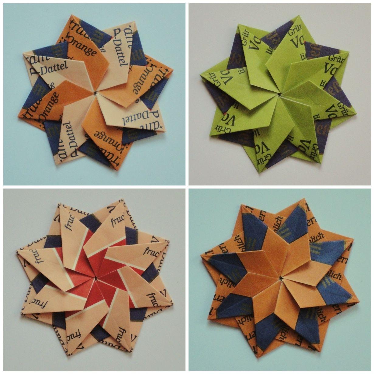 Large Farmhouse Mosaic Origami Bag