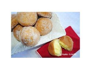 Soffici krapfen alla crema. Krapfen | Cake e piccole tentazioni
