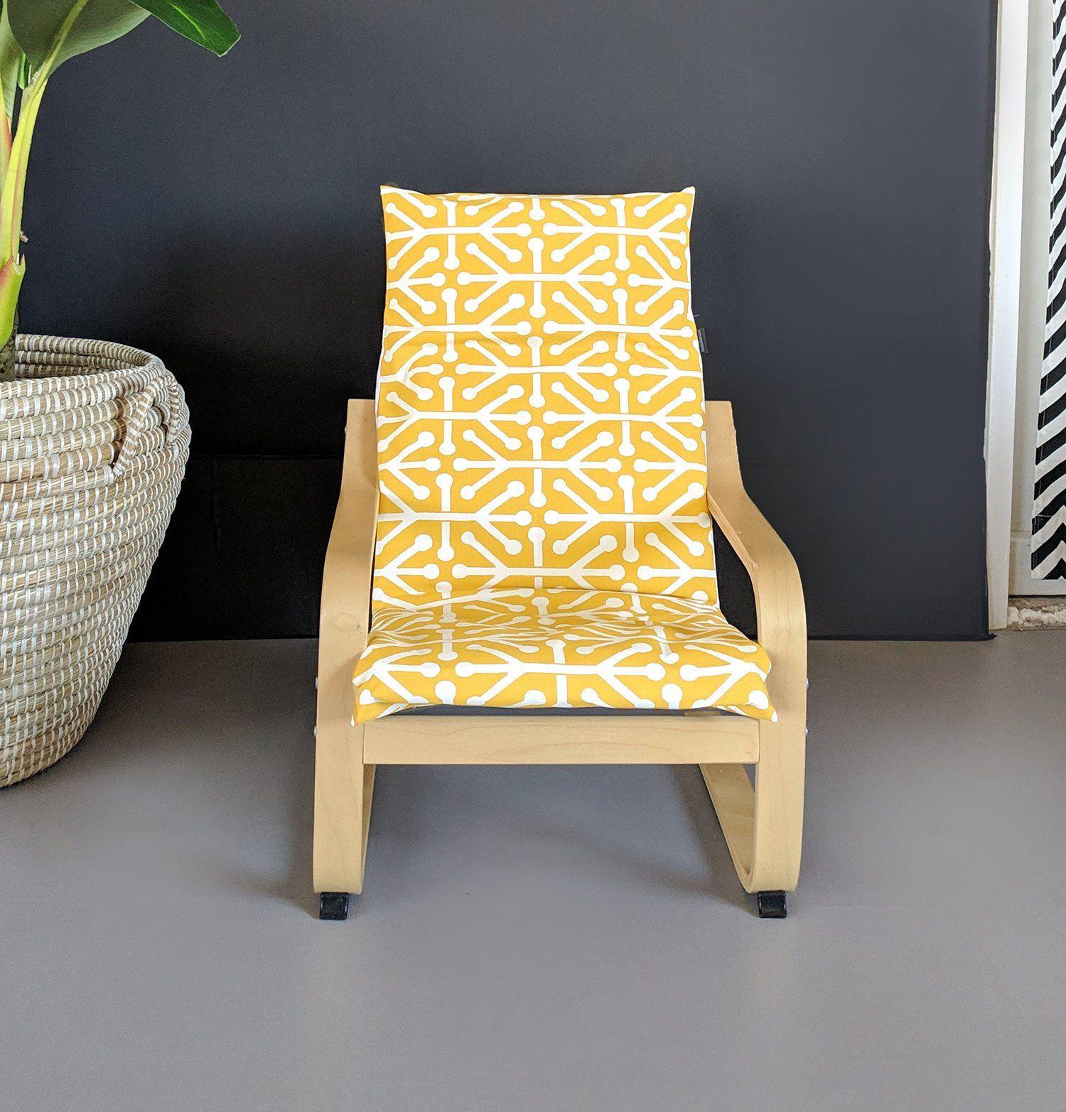 Modern Yellow IKEA KIDS POÄNG Cushion Slip Cover Ikea kids