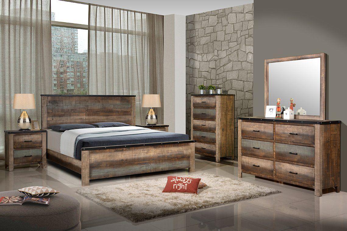 Antique MultiColor Sembene Bedroom Collection Queen Bed
