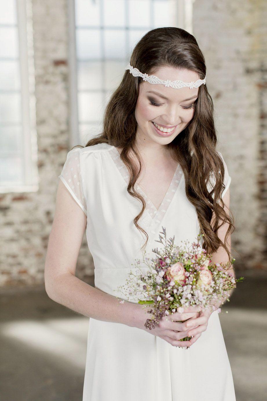 Labude - Brautkleid Claire Hochzeitskleid, Vintage Stil, Tüll, Seide ...