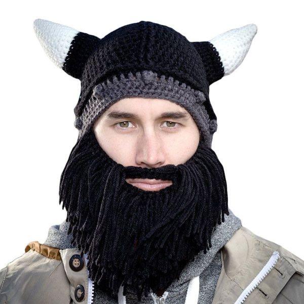 1e71ae4eeeff0 Handmade Knitted Viking Beard Beanie