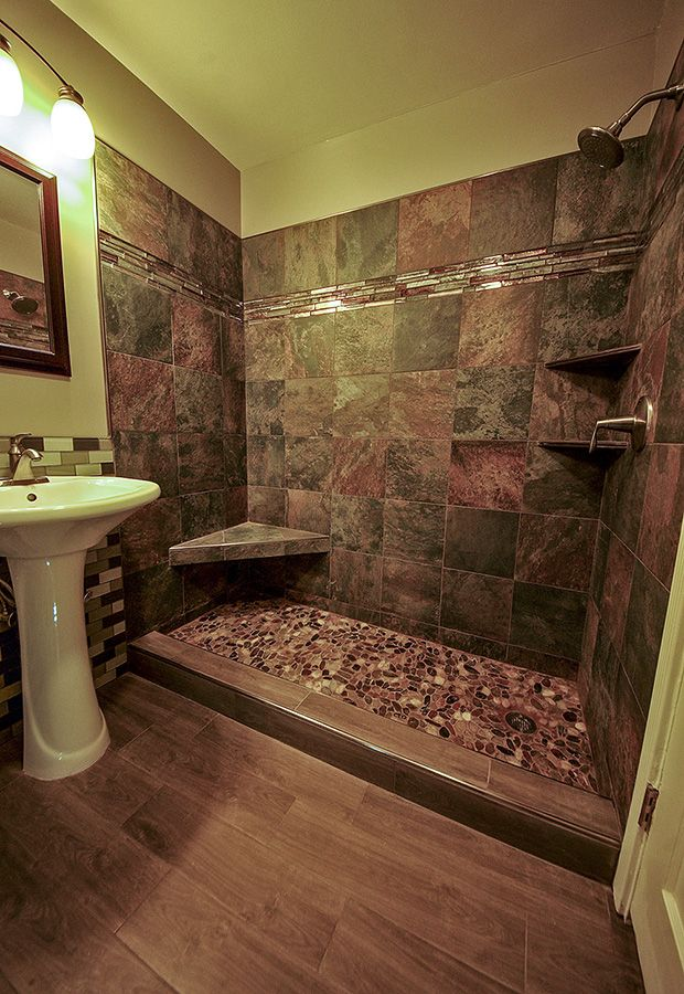 River Rock Tile Shower in Daly City, CA