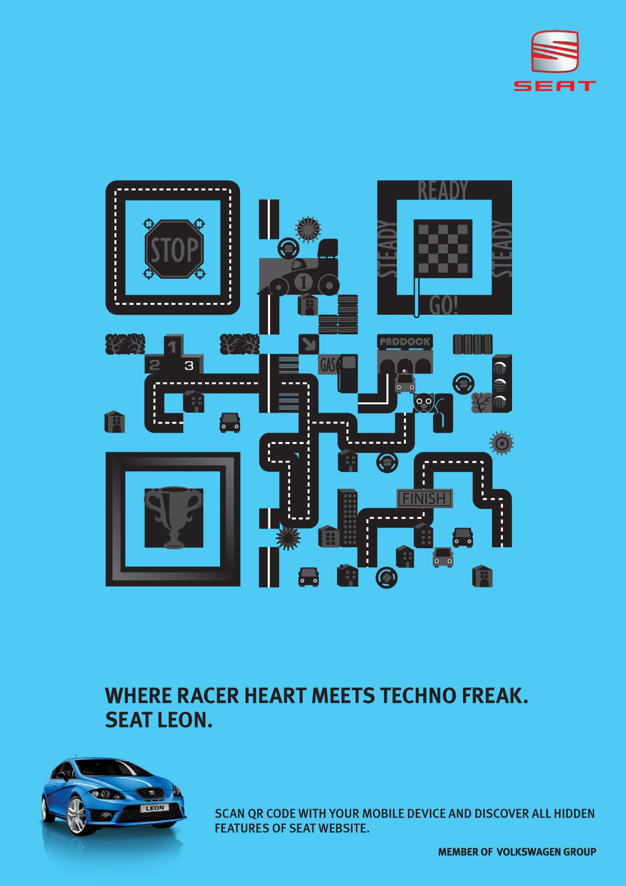 Seat Leon Qr Code Ads Of The World Funny Commercial Ads Qr Code Coding