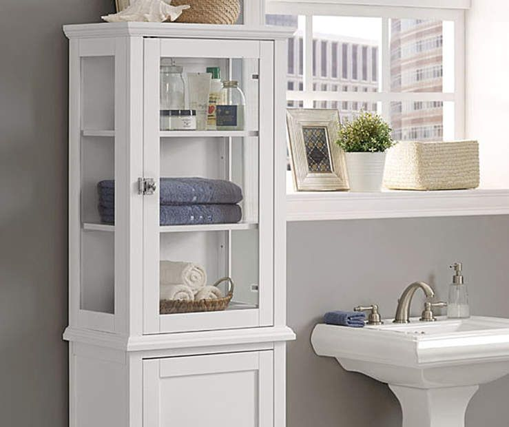 I Found A Henry White 5 Shelf Tall Glass Cabinet At Big Lots For