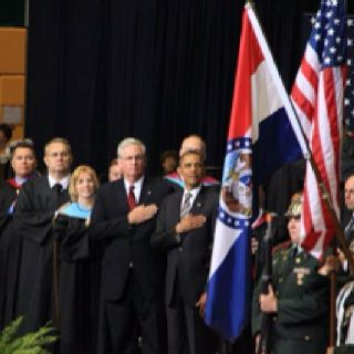 President Obama attended the 2012 graduation ceremony of the high school in Joplin, MO