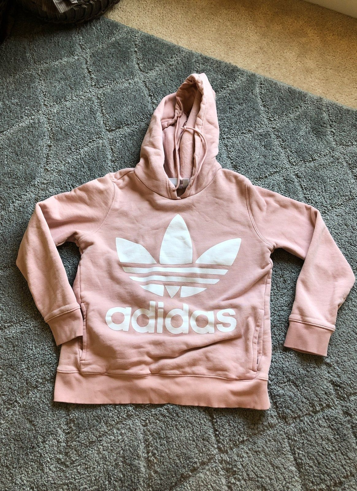 Adidas hooded sweater Mauve color Size
