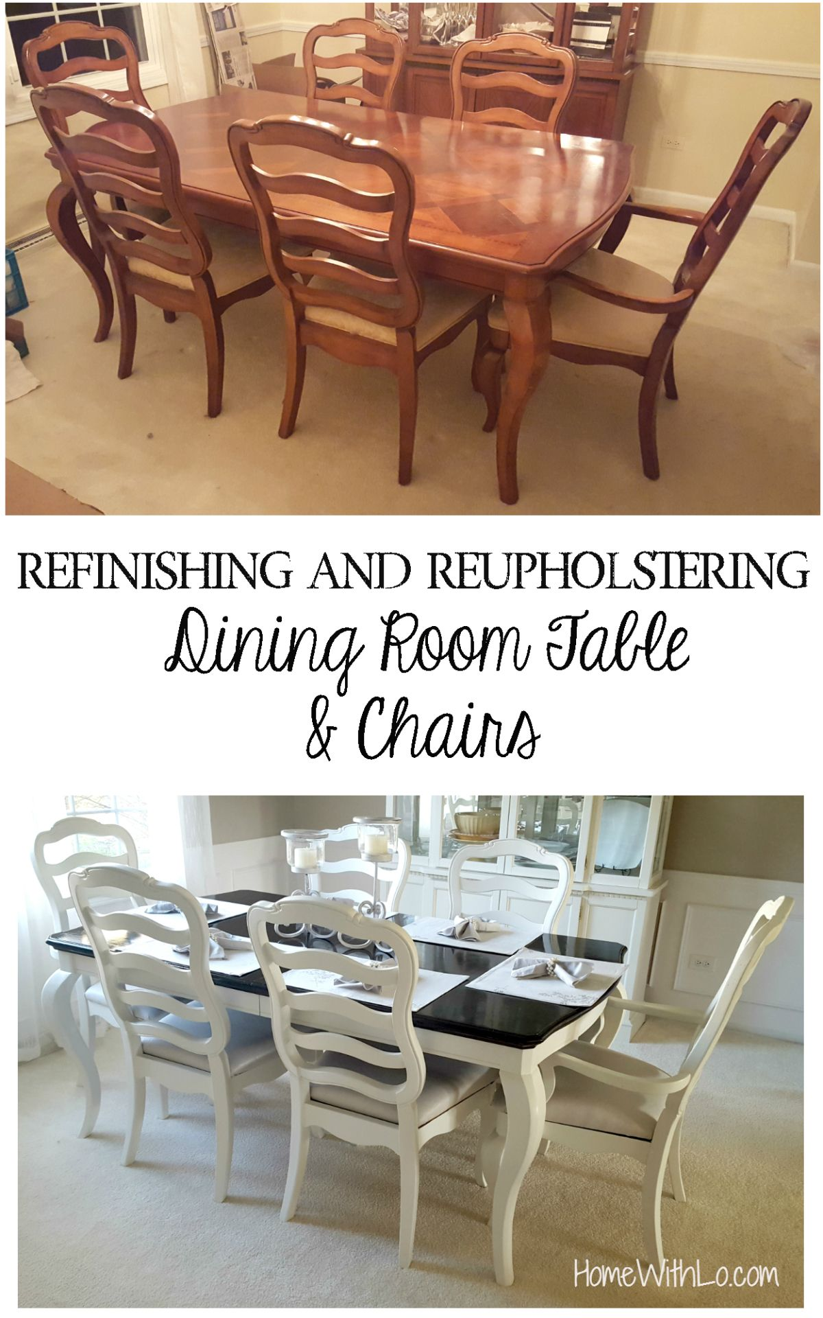 what kind of paint to use on dining room table | How I refinished a wood veneer table top to make it look ...