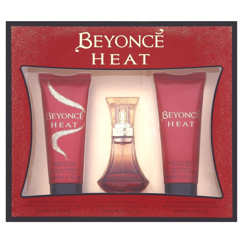Beyonce gift set includes heat eau de perfume 30ml shower