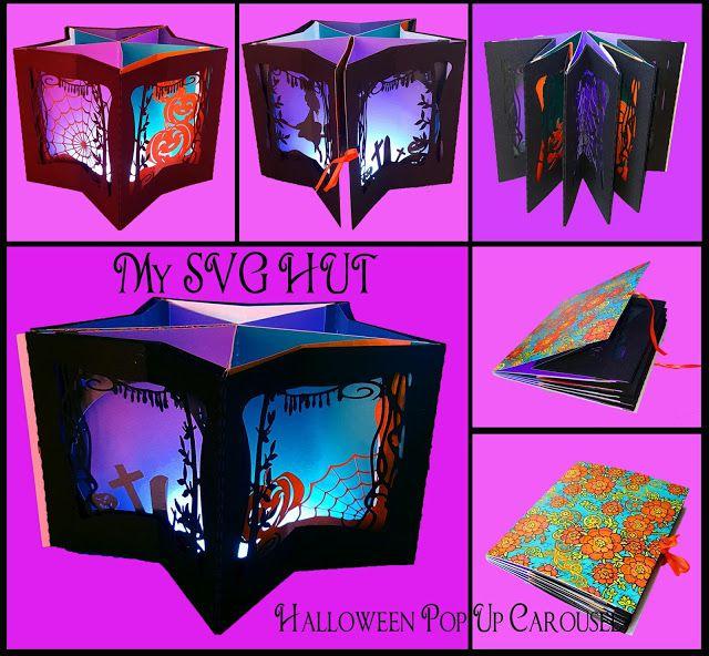 My Svg Hut Pop Up Card Templates The Nativity Story Halloween Cards