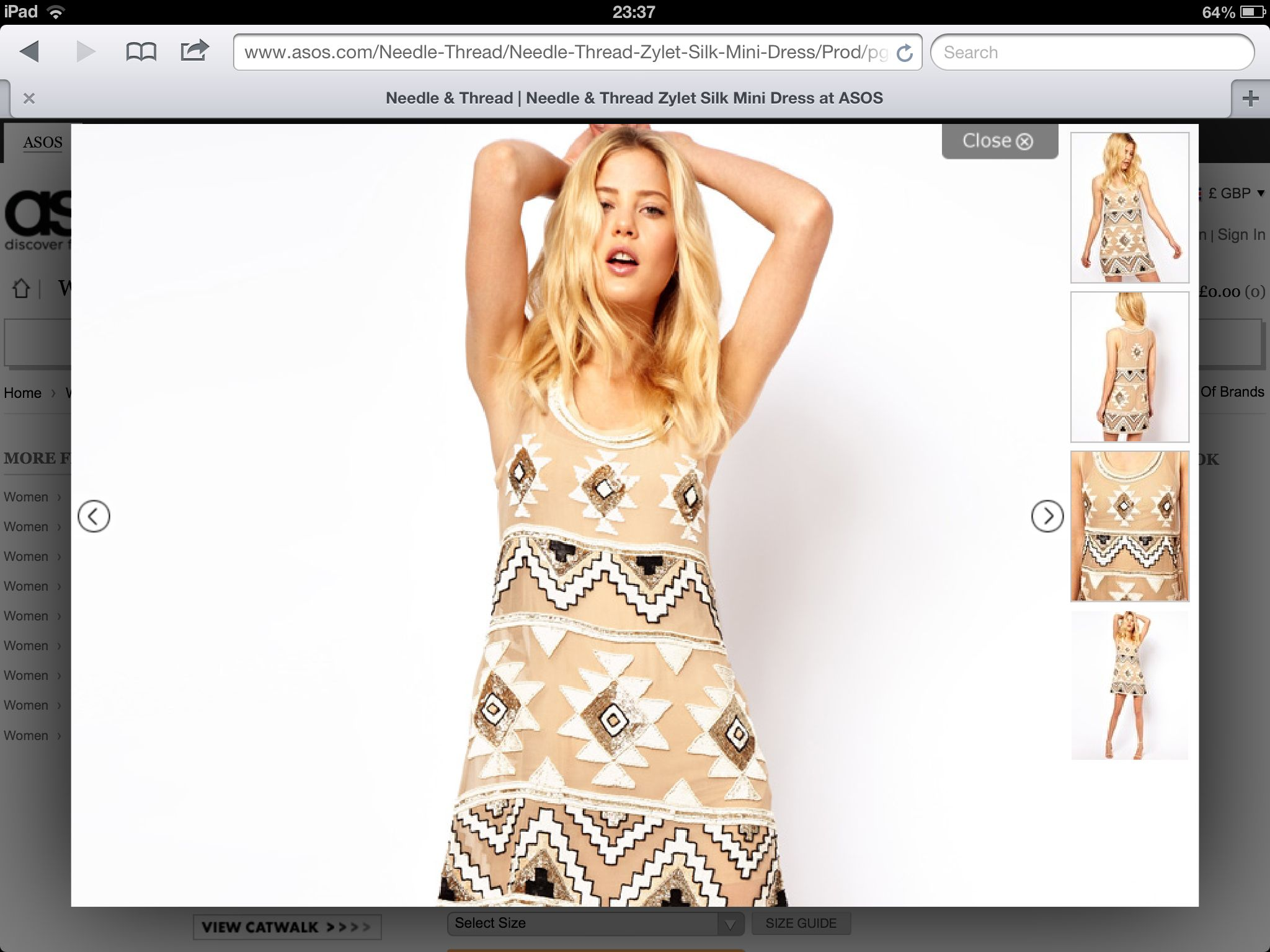 Something like this for the big 30!! Needle and thread at asos