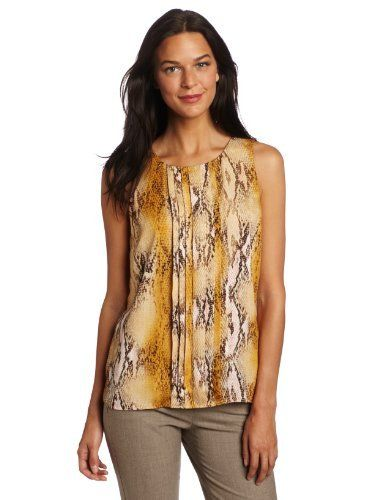 76c6fb0b8 Anne Klein Women's Snake Print Blouse Anne Klein. $42.11. Made in Canada.  Machine Wash. Pleats down front. Sleeveless. polyester