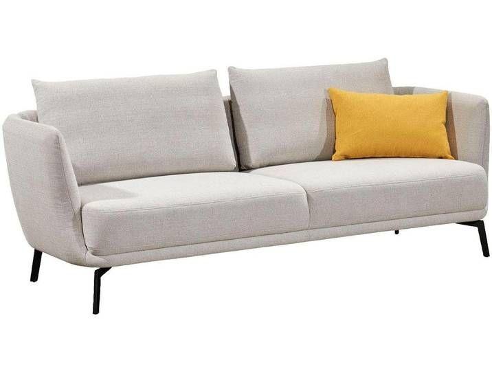 Schoner Wohnen Kollektion Sofa Pearl Silberfarben 3 Sitzer Platin Home Decor Furniture Couch