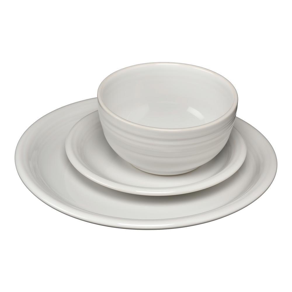 Fiesta 3 Piece White Bistro Set Bistro Set Classic Plates Dinnerware