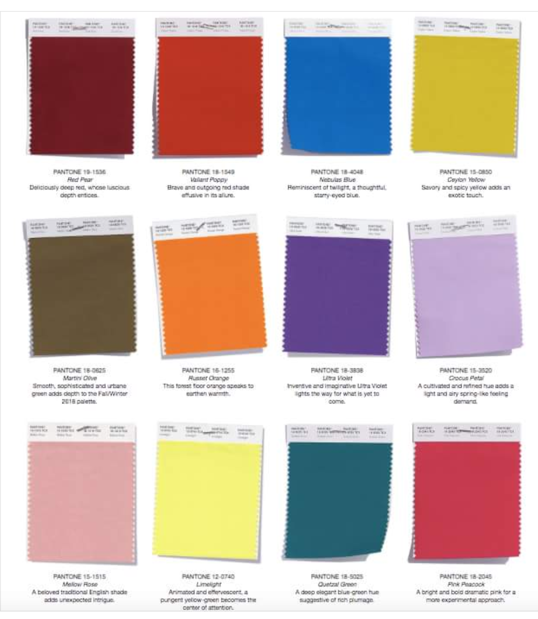 3980d0567e3b08 Modekleuren herfst en winter 2018-2019 Pantone Color