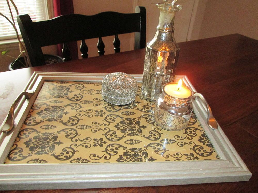 Repurposed Old Picture Frames to Serving Trays | Craft ideas ...
