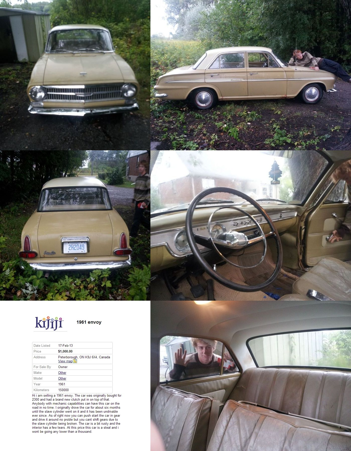1961 Envoy Built by Vauxhall of England for the Canadian