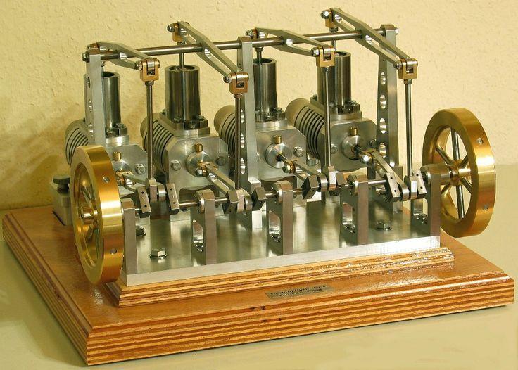 4 cylinder stirling engine - ww3 cad de/      Stirling Engines