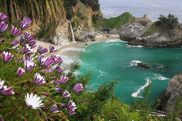CA-Big Sur-McWay Falls Afternoon by Buck Forester, via Flickr