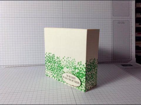 Fold Flat Box using the gift bag punchboard - YouTube