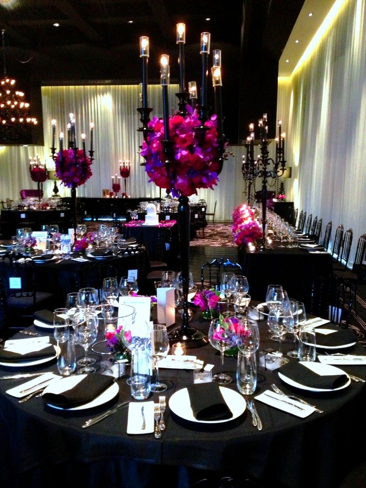 Use Black In Wedding Wedding Centerpieces Wedding