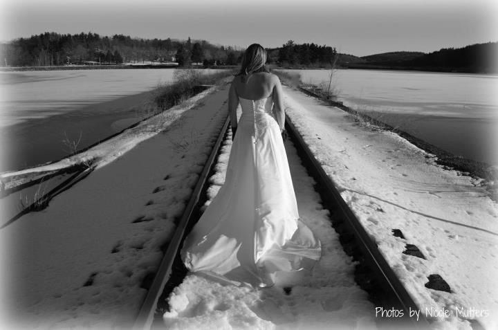 Winter trash the dress photo by Nicole Mutters http://www.facebook.com/pages/Photos-by-Nicole-Mutters/210703892317779