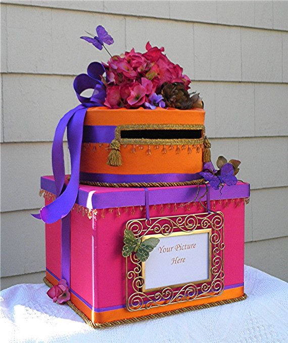 Send Wedding Gift To India: INDIAN HINDU Wedding Card Money Box Two By