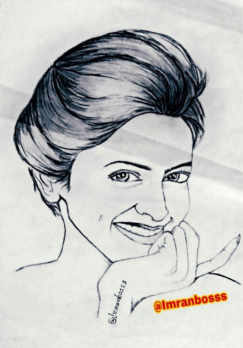 Bollywood Actress Deepika Padukone Pencil Sketch Drawing Pencil Sketch Drawing Cartoon Drawings Pencil Sketch