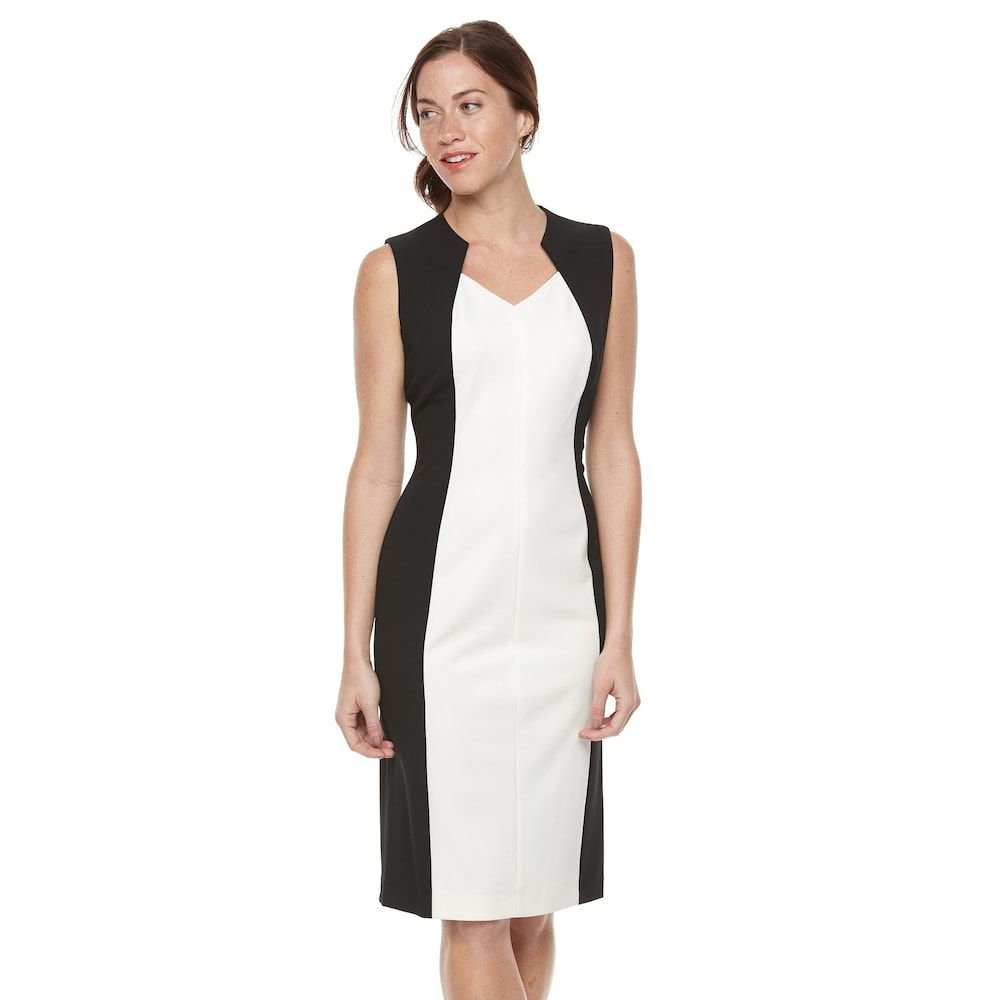 Image result for womenssharaganocolorblockmidisheathdress on