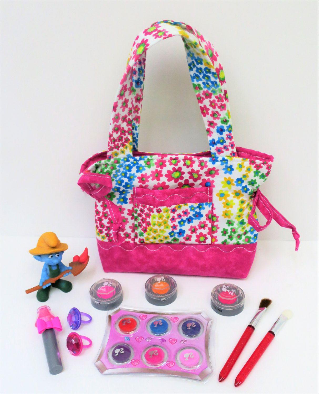 d87716033e85c Pink Floral Cats Little Girl Purse