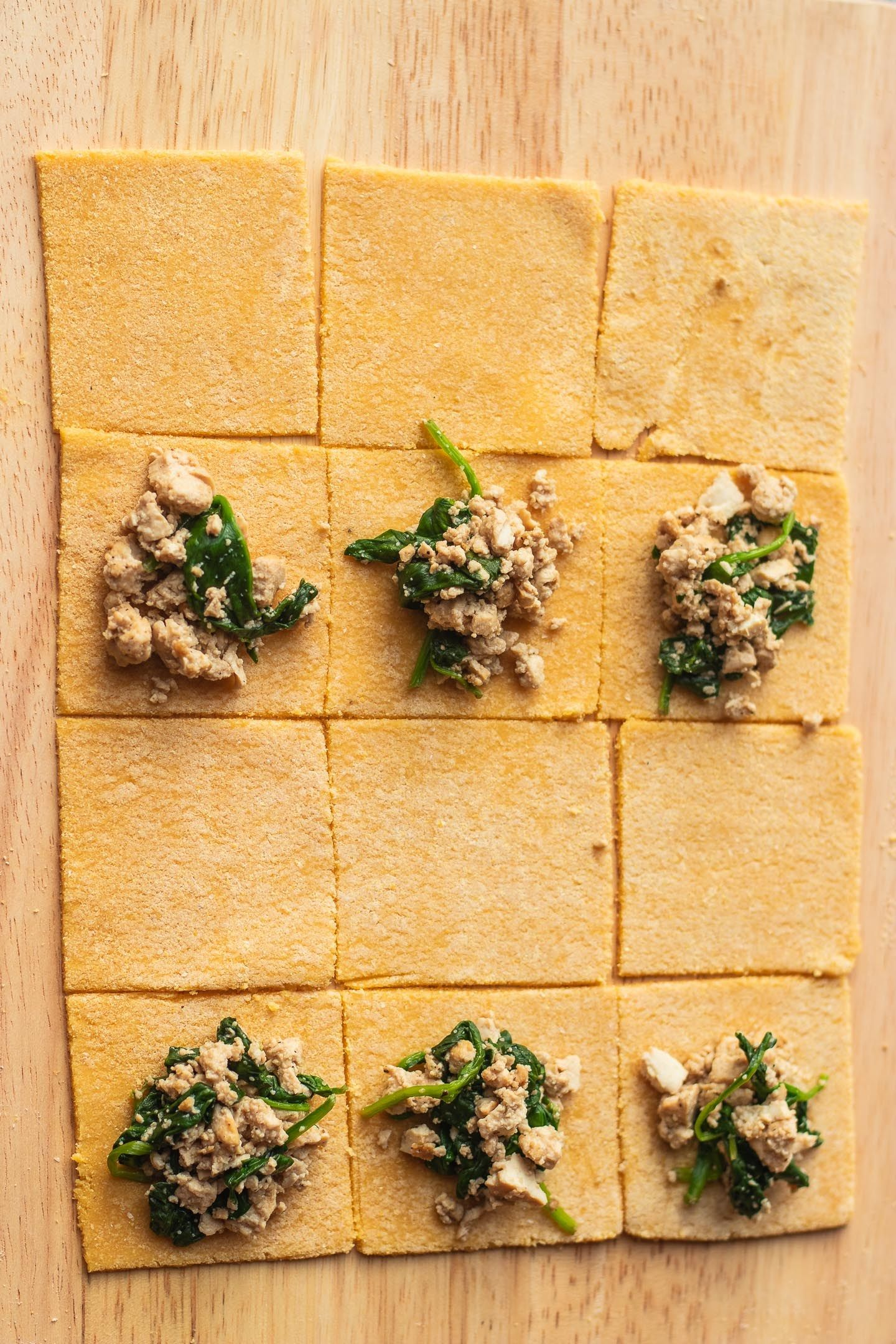 Homemade Vegan Ravioli With Tofu And Spinach Recipe