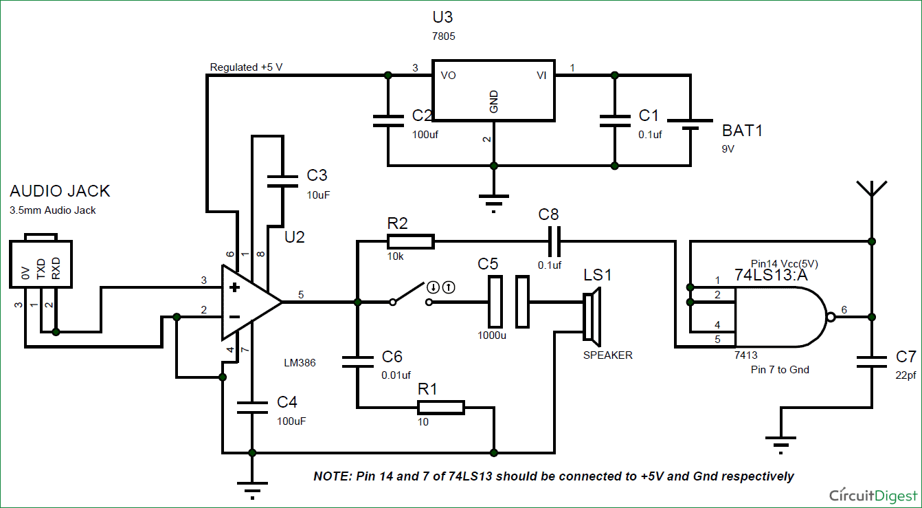 circuit diagram for fm transmitter