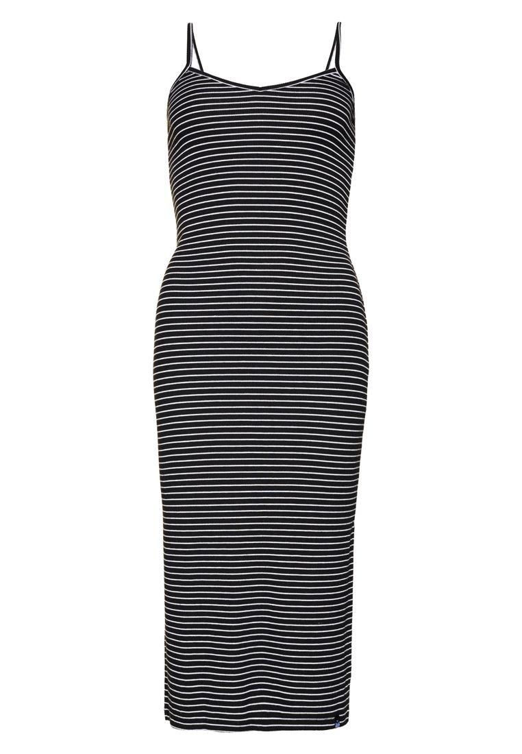 6bc2f82ef543e1 Superdry Midi Slip jurk Zwart