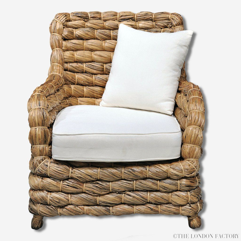 Seagrass Wicker Banana Leaf Occasional Arm Chair The London  # Muebles Hoja De Banano