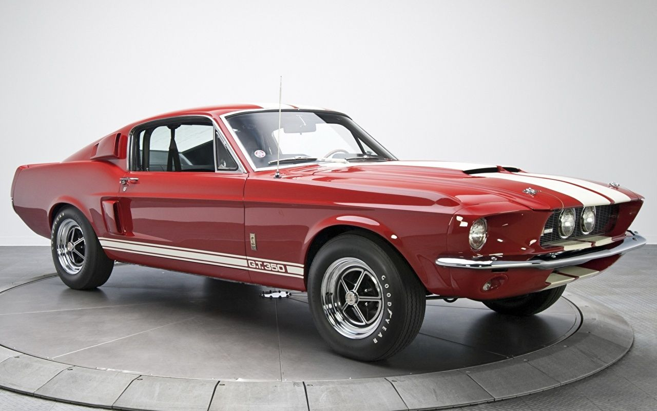 Photos Ford Mustang Shelby Gt350 1967 Red Retro Cars Metallic Antique Vintage Auto Automobile Mustang Shelby Ford Mustang Mustang